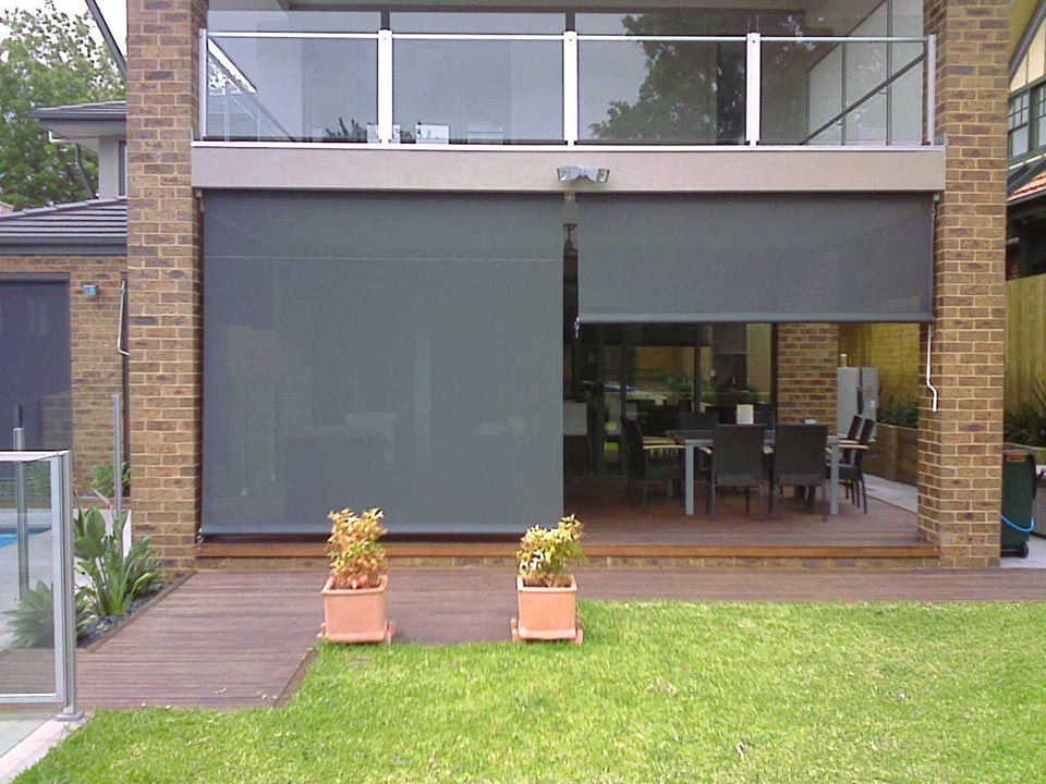Caf blinds outdoor blinds in melbourne vic yarra shade for Exterior window shade