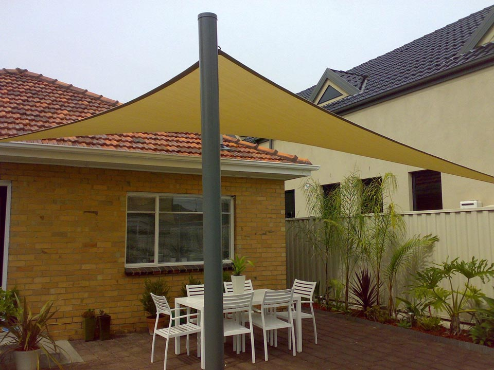 Waterproof shade sails melbourne yarra shade for Shade sail cost
