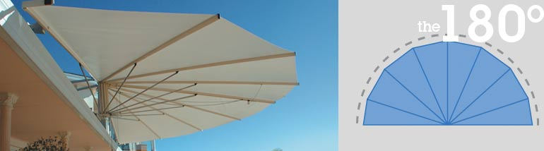 180 Degree SeaShell Awnings